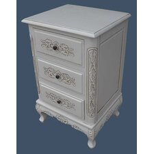 French Style 3 Drawer Chest of Drawers