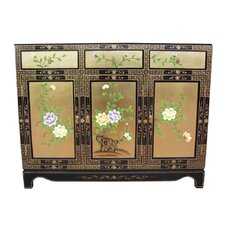 Gold Leaf 3 Door 3 Drawer Sideboard