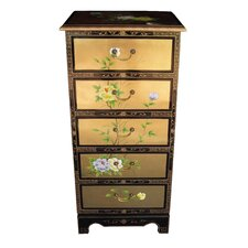 Gold Leaf 5 Drawer Chest