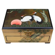 Gold Leaf Jewellery Box