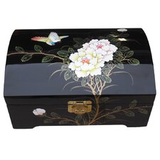 Black Dome Top Jewellery Box