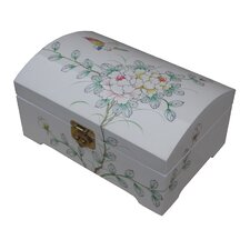 White Dome Top Jewellery Box
