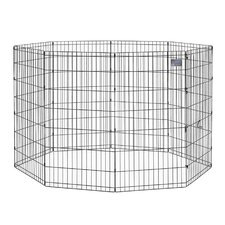 Black E-Coat Exercise Pet Pen