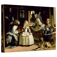 """""""Las Meninas, Detail of the Lower Half Depicting the Family of Philip IV of Spain"""" by Diego Velazquez  Painting Print on Wrapped Canvas"""