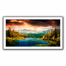 'Mountain View' by John Black Graphic Art on Canvas