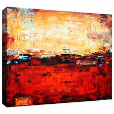 'Abstract Warm' by Jolina Anthony Painting Print on Wrapped Canvas