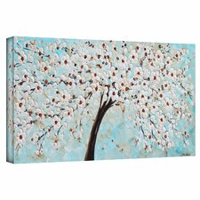 'Blossoms' by Jolina Anthony Painting Print on Wrapped Canvas