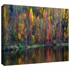 Reflections Panoramic' by Antonio Raggio Painting Print on Wrapped Canvas