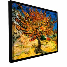 'Mulberry Tree' by Vincent Van Gogh Framed Painting Print on Wrapped Canvas