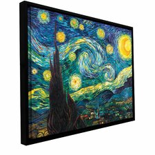 Starry Night by Vincent Van Gogh Framed Painting Print on Wrapped Canvas