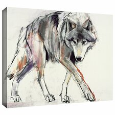 'Wolf' by Mark Adlington Painting Print on Wrapped Canvas