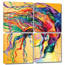 'Windswept' by Linzi Lynn 4 Piece Painting Print Gallery-Wrapped on Canvas Set