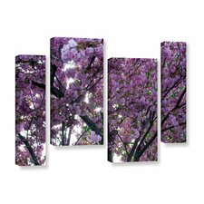 Spring Flowers by Dan Wilson 4 Piece Photographic Print on Wrapped Canvas Staggered Set