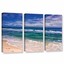 """Changing Tides"" by Antonio Raggio 3 Piece Photographic Print on Wrapped Canvas Set"