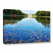Lincoln Memorial And Reflecting Pool I by Steve Ainsworth Photographic Print on Wrapped Canvas