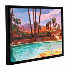 The Palm Springs Pool by Marcus/Martina Bleichner Floater Framed Painting Print on Gallery Wrapped Canvas