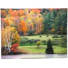 """Killington Vermont"" by George Zucconi Painting Print on Canvas"