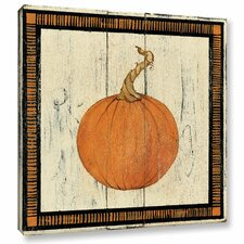 Polka Dot Pumpkin II by Avery Tillmon Painting Print on Wrapped Canvas