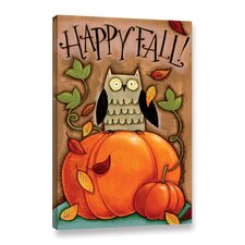 'Happy Fall' by Anne Tavoletti Painting Print on Wrapped Canvas