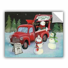 Mary Urban Christmas on Wheels Wall Mural