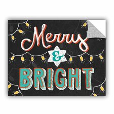 Mary Urban Merry and Bright Black Wall Mural
