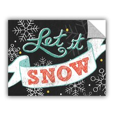 Mary Urban Let It Snow Black Wall Mural