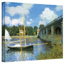 'The Bridge of Argenteuil' by Claude Monet Painting Print on Canvas