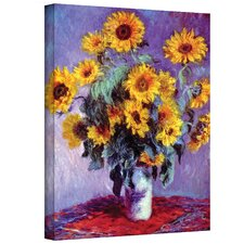 'Sunflowers' by Claude Monet Painting Print on Canvas