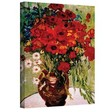 Red Poppies & Daisies by Van Gogh Canvas Giclee Print