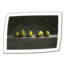 'Five Pears' by Cynthia Decker Vintage Advertisement on Canvas