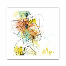 'Orange Botanica' by Jan Weiss Graphic Art on Canvas