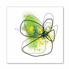 'Citron Petals ' by Jan Weiss Graphic Art on Canvas