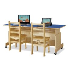 Apollo Wood Adjustable Height Computer Desk