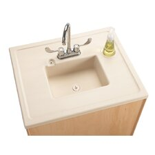 """Portable Sink 28"""" x 23.5"""" Single Clean Hands Helper with Faucet"""