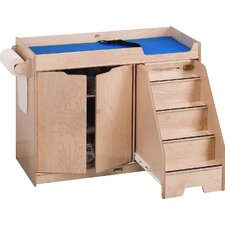 Right Changing Table with Stairs