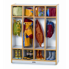 1 Tier 4-Section Coat Locker
