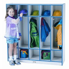 1 Tier 5-Section Coat Locker