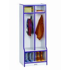 1 Tier 2-Section Double Locker with Step