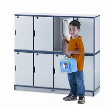 4-Section Stacking Lockable Lockers