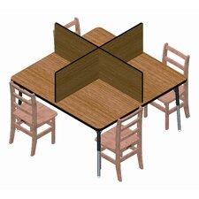 Wood Table Top Carrel (Set of 4)