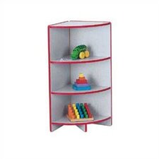 "KYDZ Curves 35"" H Rainbow Accents Corner Bookcase"