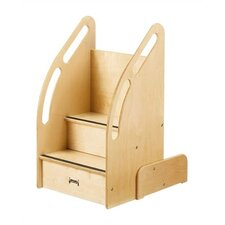 KYDZ Suite 2-Step Baltic Wood Up-n-Down Children's Step Stool
