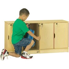 4-Sections Stacking Lockable Lockers