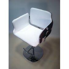 Arka Adjustable Height Swivel Bar Stool with Cushion