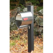 Post Mounted Mailbox with Flat Cap