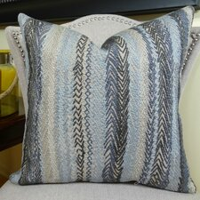 Zigzag Rows Double Sided Linen Throw Pillow