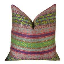 Fuchsia Stripes Throw Pillow