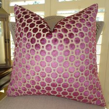 Velvet Geo Handmade Throw Pillow