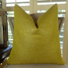 Lemon Curry Double Sided Cotton Throw Pillow