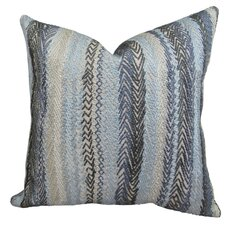Zigzag Rows Linen Throw Pillow